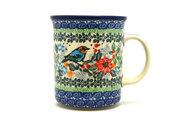 Ceramika Artystyczna Polish Pottery Mug - Big Straight Sided - Unikat Signature - U3184 B13-U3184 (Ceramika Artystyczna)