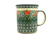 Ceramika Artystyczna Polish Pottery Mug - Big Straight Sided - Unikat Signature - U4336 B13-U4336 (Ceramika Artystyczna)
