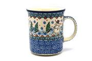 Ceramika Artystyczna Polish Pottery Mug - Big Straight Sided - Unikat Signature - U4661 B13-U4661 (Ceramika Artystyczna)