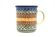Ceramika Artystyczna Polish Pottery Mug - Straight Sided - Autumn 236-050a (Ceramika Artystyczna)