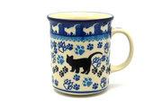 Ceramika Artystyczna Polish Pottery Mug - Straight Sided - Boo Boo Kitty 236-1771a (Ceramika Artystyczna)