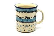 Ceramika Artystyczna Polish Pottery Mug - Straight Sided - Diggity Dog 236-2152a (Ceramika Artystyczna)