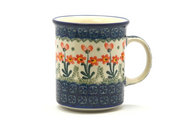 Ceramika Artystyczna Polish Pottery Mug - Straight Sided - Peach Spring Daisy 236-560a (Ceramika Artystyczna)