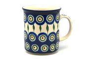 Ceramika Artystyczna Polish Pottery Mug - Straight Sided - Peacock 236-054a (Ceramika Artystyczna)