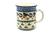 Ceramika Artystyczna Polish Pottery Mug - Straight Sided - Red Robin 236-1257a (Ceramika Artystyczna)