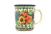 Ceramika Artystyczna Polish Pottery Mug - Straight Sided - Unikat Signature - U3347 236-U3347 (Ceramika Artystyczna)