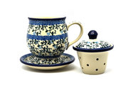 Ceramika Artystyczna Polish Pottery Mug - with Infuser - Terrace Vines 122-1822a (Ceramika Artystyczna)