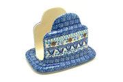 Ceramika Artystyczna Polish Pottery Napkin Holder - Blue Yonder 487-2187a (Ceramika Artystyczna)