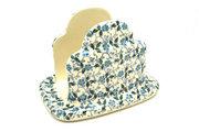 Ceramika Artystyczna Polish Pottery Napkin Holder - Forget-Me-Knot 487-2089a (Ceramika Artystyczna)
