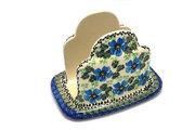 Ceramika Artystyczna Polish Pottery Napkin Holder - Morning Glory 487-1915a (Ceramika Artystyczna)