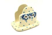 Ceramika Artystyczna Polish Pottery Napkin Holder - White Poppy 487-2222a (Ceramika Artystyczna)