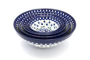 Ceramika Artystyczna Polish Pottery Nesting Bowl Set - Bleeding Heart S05-377o (Ceramika Artystyczna)