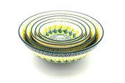 Ceramika Artystyczna Polish Pottery Nesting Bowl Set - Daffodil S05-2122q (Ceramika Artystyczna)