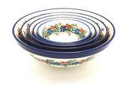 Ceramika Artystyczna Polish Pottery Nesting Bowl Set - Garden Party S05-1535a (Ceramika Artystyczna)