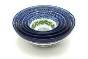 Ceramika Artystyczna Polish Pottery Nesting Bowl Set - Ivy Trail S05-1898a (Ceramika Artystyczna)