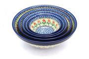 Ceramika Artystyczna Polish Pottery Nesting Bowl Set - Maraschino S05-1916a (Ceramika Artystyczna)