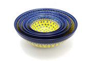 Ceramika Artystyczna Polish Pottery Nesting Bowl Set - Sunburst S05-859a (Ceramika Artystyczna)