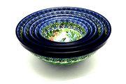 Ceramika Artystyczna Polish Pottery Nesting Bowl Set - Unikat Signature - U3271 S05-U3271 (Ceramika Artystyczna)