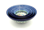 Ceramika Artystyczna Polish Pottery Nesting Bowl Set - Unikat Signature - U4553 S05-U4553 (Ceramika Artystyczna)