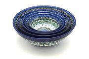 Ceramika Artystyczna Polish Pottery Nesting Bowl Set - Wisteria S05-1473a (Ceramika Artystyczna)