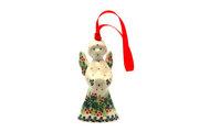 Ceramika Artystyczna Polish Pottery Ornament - Angel - Holly Berry C67-1734a (Ceramika Artystyczna)
