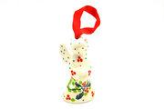 Ceramika Artystyczna Polish Pottery Ornament - Angel - Mistletoe C67-2390a (Ceramika Artystyczna)