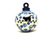 Ceramika Artystyczna Polish Pottery Ornament - Ball - Boo Boo Kitty 186-1771a (Ceramika Artystyczna)