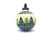 Ceramika Artystyczna Polish Pottery Ornament - Ball - Christmas Trees 186-1284a (Ceramika Artystyczna)