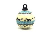 Ceramika Artystyczna Polish Pottery Ornament - Ball - Diggity Dog 186-2152a (Ceramika Artystyczna)