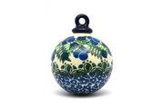 Ceramika Artystyczna Polish Pottery Ornament - Ball - Huckleberry 186-1413a (Ceramika Artystyczna)