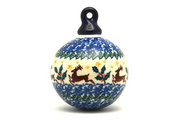 Ceramika Artystyczna Polish Pottery Ornament - Ball - Prancer 186-1485a (Ceramika Artystyczna)