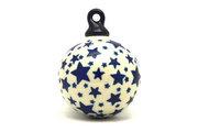 Ceramika Artystyczna Polish Pottery Ornament - Ball - Star Struck 186-359Aa (Ceramika Artystyczna)