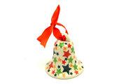 Ceramika Artystyczna Polish Pottery Ornament - Bell - Star Studded 029-2258a (Ceramika Artystyczna)