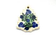 Ceramika Artystyczna Polish Pottery Ornament - Christmas Tree - Huckleberry A87-1413a (Ceramika Artystyczna)