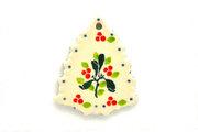Ceramika Artystyczna Polish Pottery Ornament - Christmas Tree - Mistletoe A87-2390a (Ceramika Artystyczna)
