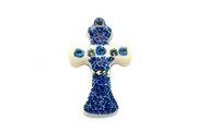 Ceramika Artystyczna Polish Pottery Ornament - Cross - Antique Rose 612-1390a (Ceramika Artystyczna)