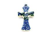 Ceramika Artystyczna Polish Pottery Ornament - Cross - Huckleberry 612-1413a (Ceramika Artystyczna)