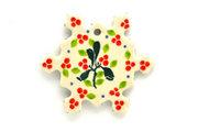 Ceramika Artystyczna Polish Pottery Ornament - Snowflake - Mistletoe A88-2390a (Ceramika Artystyczna)