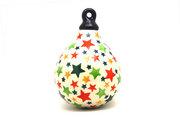 Ceramika Artystyczna Polish Pottery Ornament -Teardrop - Star Studded 187-2258a (Ceramika Artystyczna)