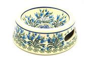 Ceramika Artystyczna Polish Pottery Pet Food/Water Dish - 12 oz. - Blue Bells 524-1432a (Ceramika Artystyczna)