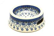 Ceramika Artystyczna Polish Pottery Pet Food/Water Dish - 12 oz. - Silver Lace 524-2158a (Ceramika Artystyczna)
