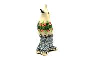 Ceramika Artystyczna Polish Pottery Pie Bird - Holly Berry C14-1734a (Ceramika Artystyczna)