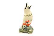 Ceramika Artystyczna Polish Pottery Pie Bird - Peach Spring Daisy C14-560a (Ceramika Artystyczna)
