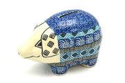 Ceramika Artystyczna Polish Pottery Piggy Bank - Aztec Sky 155-1917a (Ceramika Artystyczna)