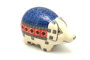 Ceramika Artystyczna Polish Pottery Piggy Bank - Aztec Sun 155-1350a (Ceramika Artystyczna)