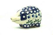 Ceramika Artystyczna Polish Pottery Piggy Bank - Bleeding Heart 155-377o (Ceramika Artystyczna)