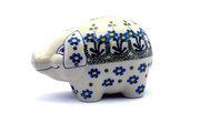 Ceramika Artystyczna Polish Pottery Piggy Bank - Blue Spring Daisy 155-614a (Ceramika Artystyczna)