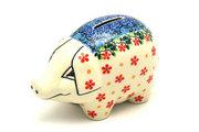 Ceramika Artystyczna Polish Pottery Piggy Bank - Cherry Jubilee 155-2284a (Ceramika Artystyczna)