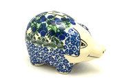 Ceramika Artystyczna Polish Pottery Piggy Bank - Huckleberry 155-1413a (Ceramika Artystyczna)
