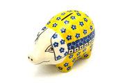 Ceramika Artystyczna Polish Pottery Piggy Bank - Sunburst 155-859a (Ceramika Artystyczna)